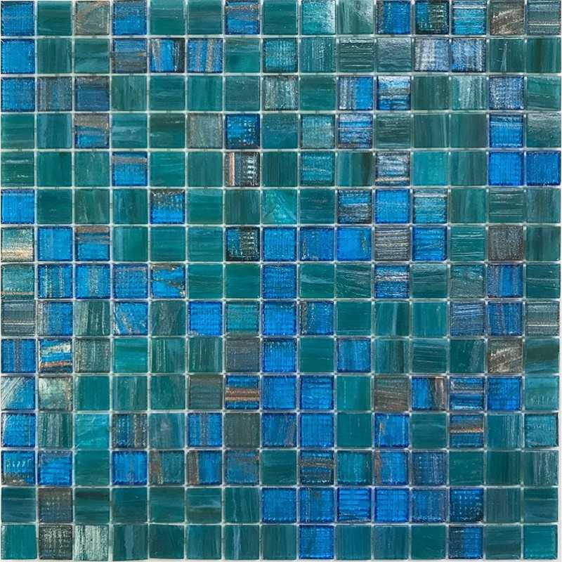 Mosaiccorp Parma Mix Glass Mosaic Pool Tile Similar To