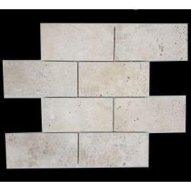 Classico Tumbled Subway Sheeted Travertine