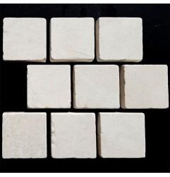 Bianca Perla Tumbled Brick Pattern Cobblestone Limestone