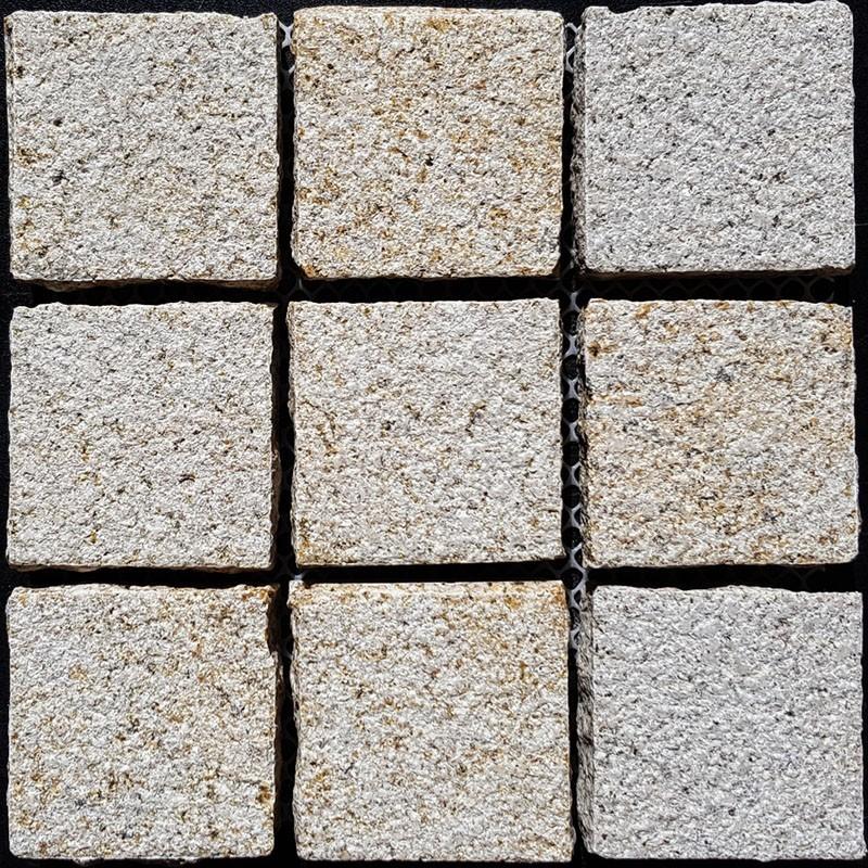 Diamond Gold Hammered Straight Pattern Cobblestone Granite