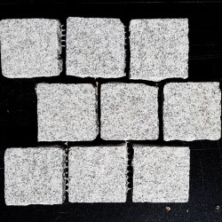 Cobblestone Diamond White Flamed Granite Sheeted-G603