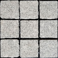 Diamond White Flamed Straight Pattern Cobblestone Granite