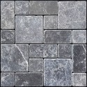 Pietra Grey Mini French Pattern Tumbled Marble Mosaic