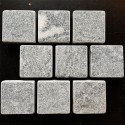 Crystal Grey Tumbled Brick Pattern Cobblestone Marble