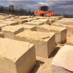Aussie Cream Logs Sandstone Blocks