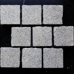 Cobblestone Diamond Grey Flamed Granite Sheeted-G654