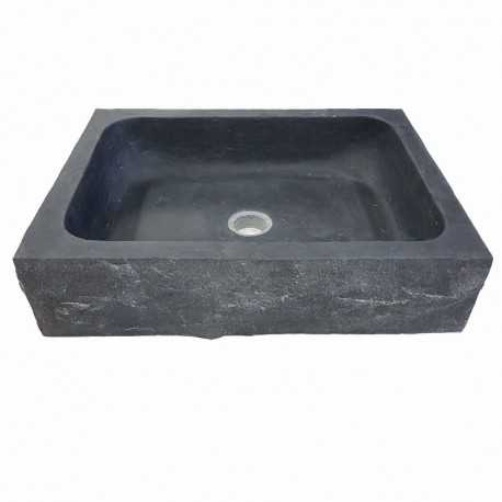 Bluestone Honed Rectangular Rockface Basin