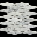 Long Hexagon Carrara Honed Marble Mosaic