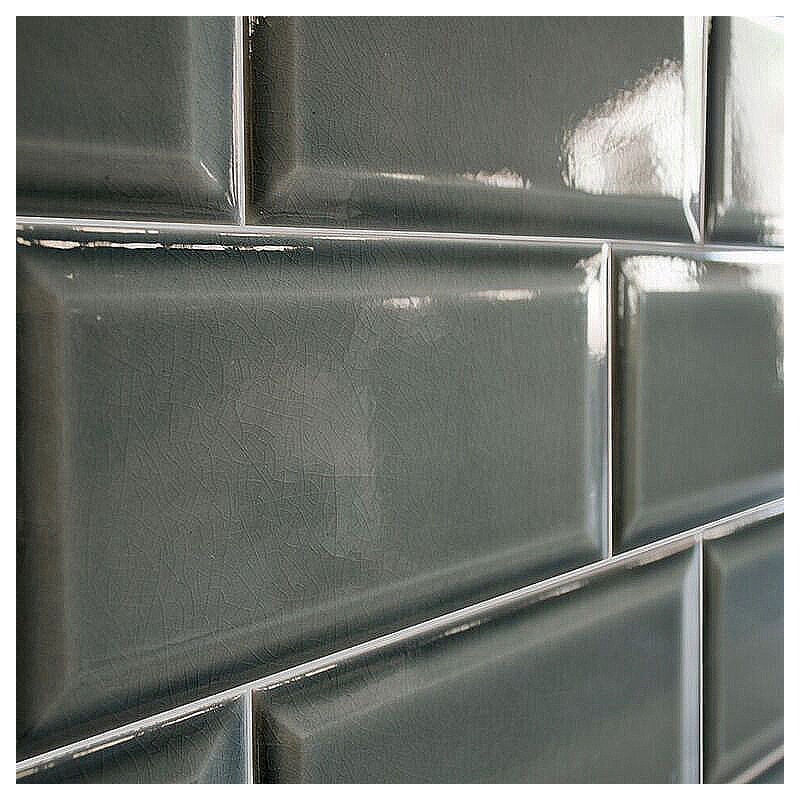 Spanish Craquele Fog Gloss Bevelled Subway Ceramic 200x100
