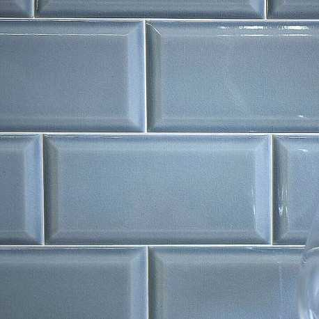 Spanish Craquele Marine Gloss Bevelled Subway Ceramic 200x100