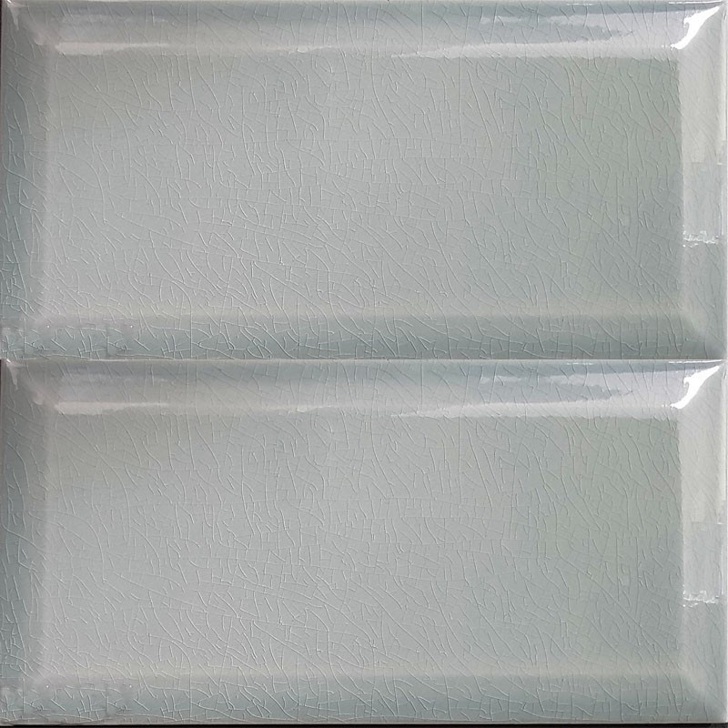 Spanish Craquele Smoke Gloss Bevelled Subway Ceramic 200x100