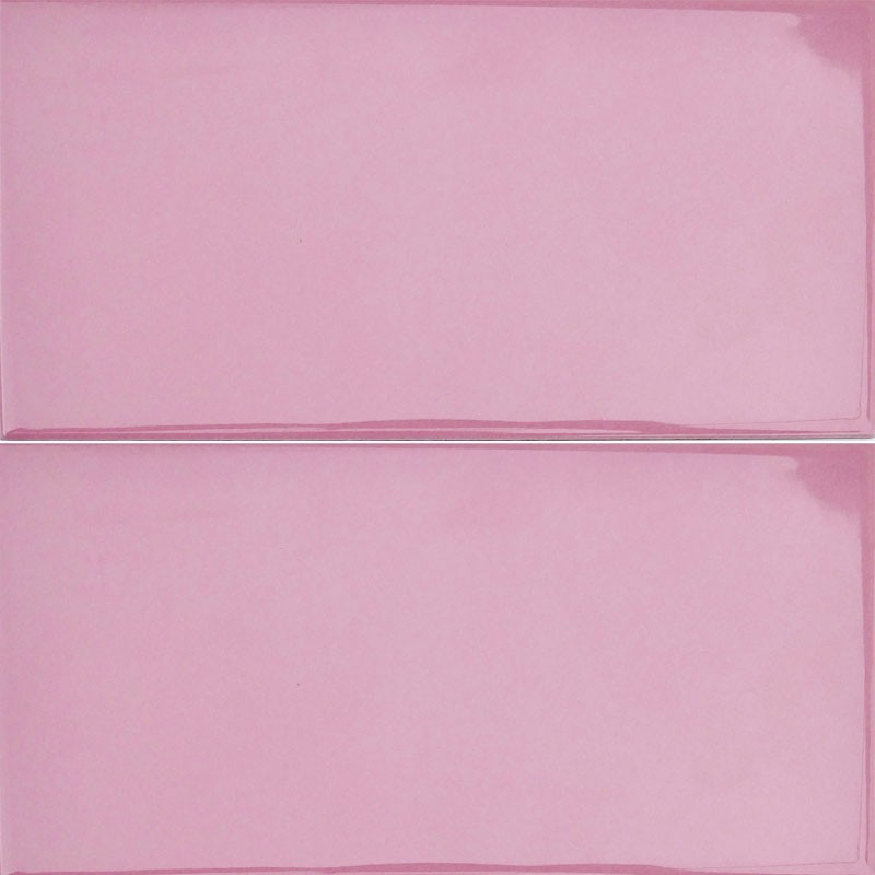 Spanish Rosa Pink Gloss Non Rectified Subway Ceramic 200x100