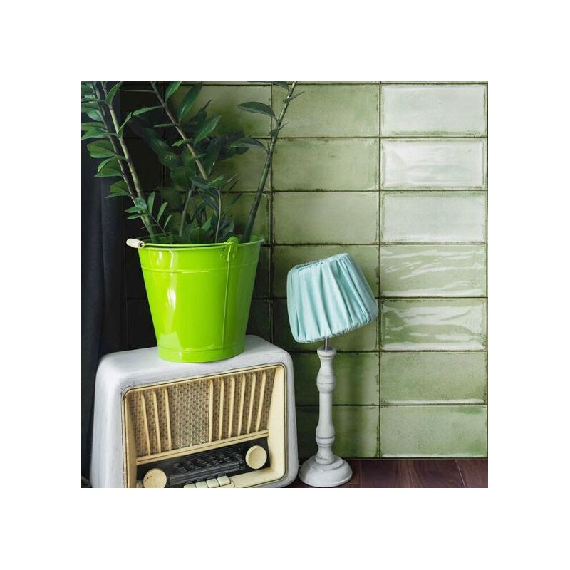 Spanish Mela Green Gloss Vita Subway Ceramic 200x100