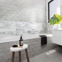 Spanish Bianco White Gloss Vita Subway Ceramic 200x100