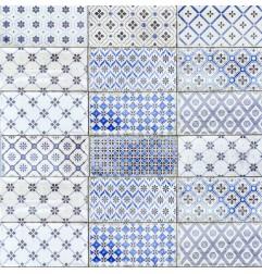 Spanish Mare Ocean Blue Gloss Vita Decor Mix Subway Ceramic 200x100