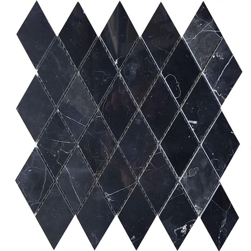 Nero Marquina Polished Marble Mosaic 54x92