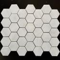 Bianca Luminous Hexagon Honed Marble Mosaic 48x48