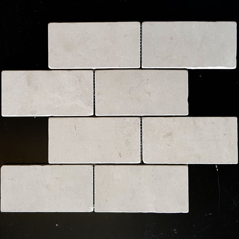 Gohera Tumbled Subway Sheeted Limestone