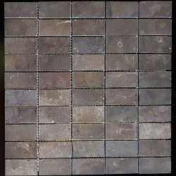 Pietra Brown Honed Limestone Mosaic 60x30