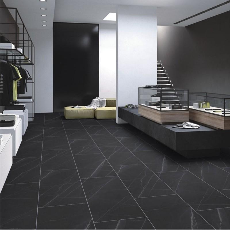 Pietra Black Matt Porcelain Tile