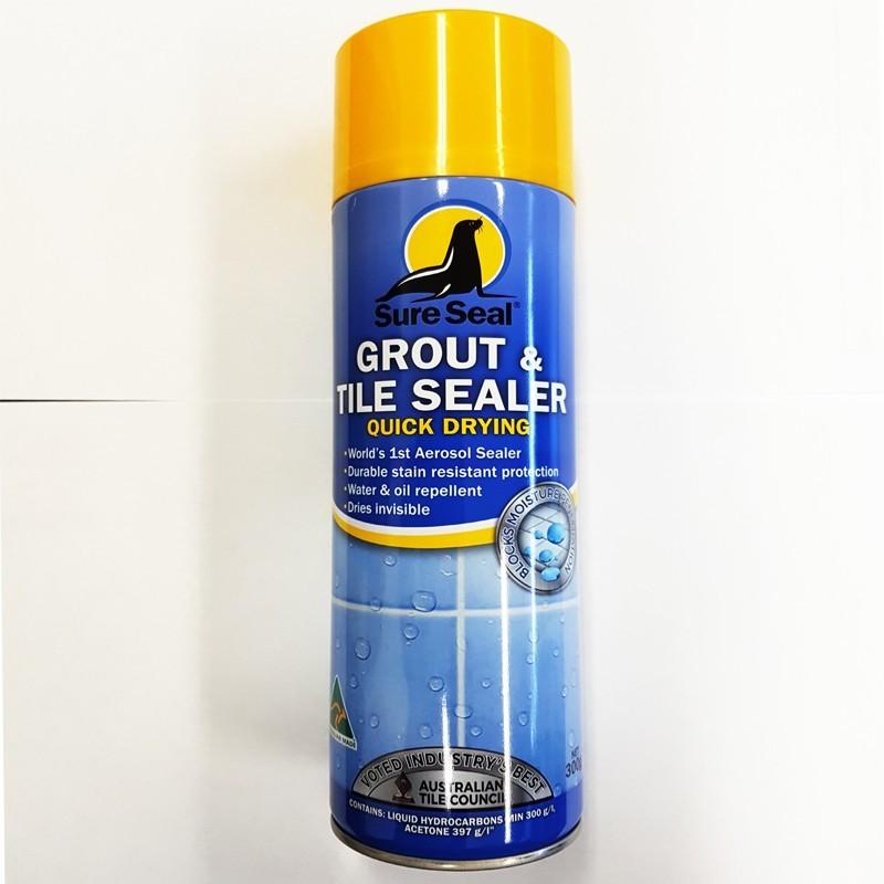 Sure Seal Quick Dry Grout & Tile Aerosol Sealer 300gm