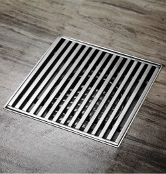 Linear Silver Floor Drain