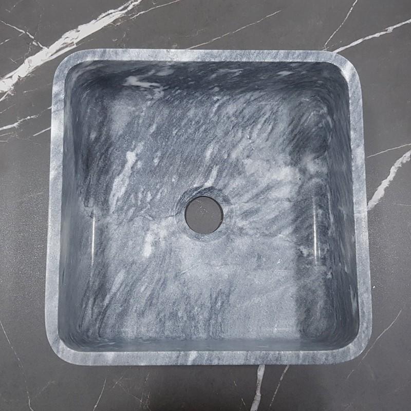 Crystal Grey Honed Square Basin Marble