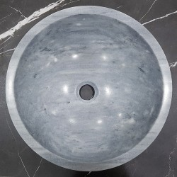 Crystal Grey Honed Round Basin Marble