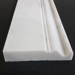 Carrara Honed Victorian Design Skirting Marble