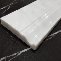 Carrara Polished Victorian Design Skirting Marble