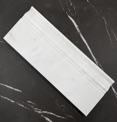 Carrara Polished Victorian Design Skirting Marble