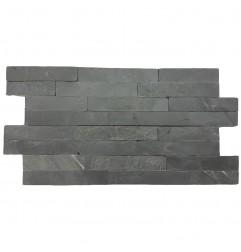 Black Slate Z Panel Stacked Stone