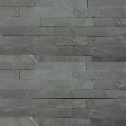 Black Slate Z Panel Stacked Stone