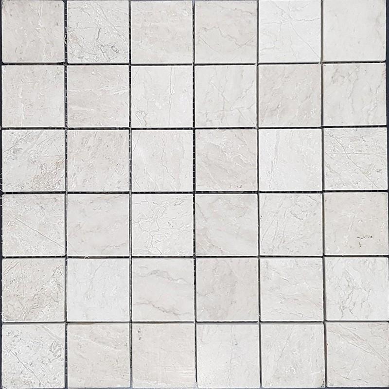 Bianca Perla Limestone Mosaic Honed 50x50