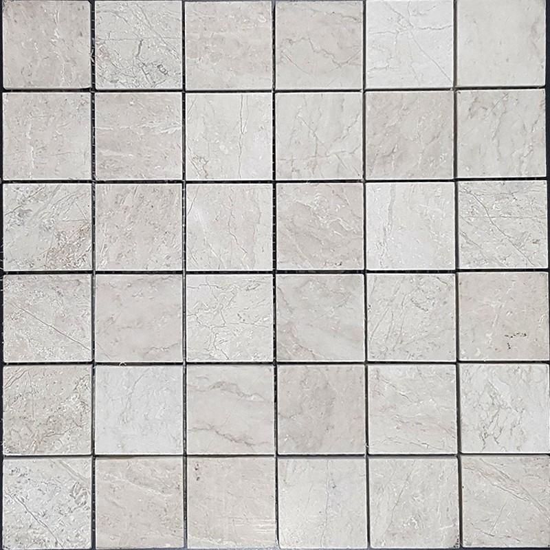 Bianca Perla Limestone Mosaic|Polished|50x50
