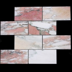 Norwegian Rose Honed Subway Sheeted Marble Mosaic 150x75