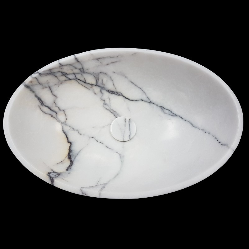 New York Honed Oval Marble Basin