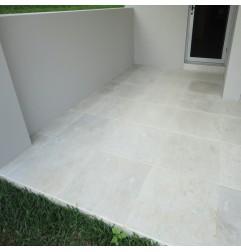 New Botticino Anticato Marble Tile - Tumbled