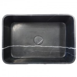 Nero Marquina Honed Rectangle Marble Basin