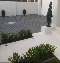 Diamond Black Flamed Brick Pattern Cobblestone Granite