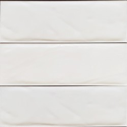 White Matt Wavy Non-Rectified Subway Ceramic 300x100