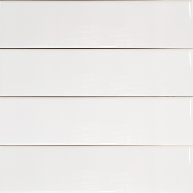 White Gloss Non-Rectified Subway Ceramic 300x75