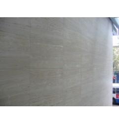 Travertine Chiaro White Tiles - Vein Cut - Unfilled & Honed