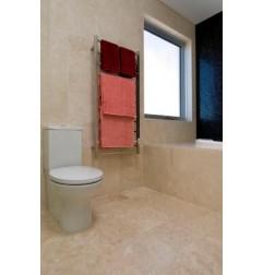 Travertine Chiaro White Tile - Cross Cut - Epoxy Filled & Honed - Light Shade