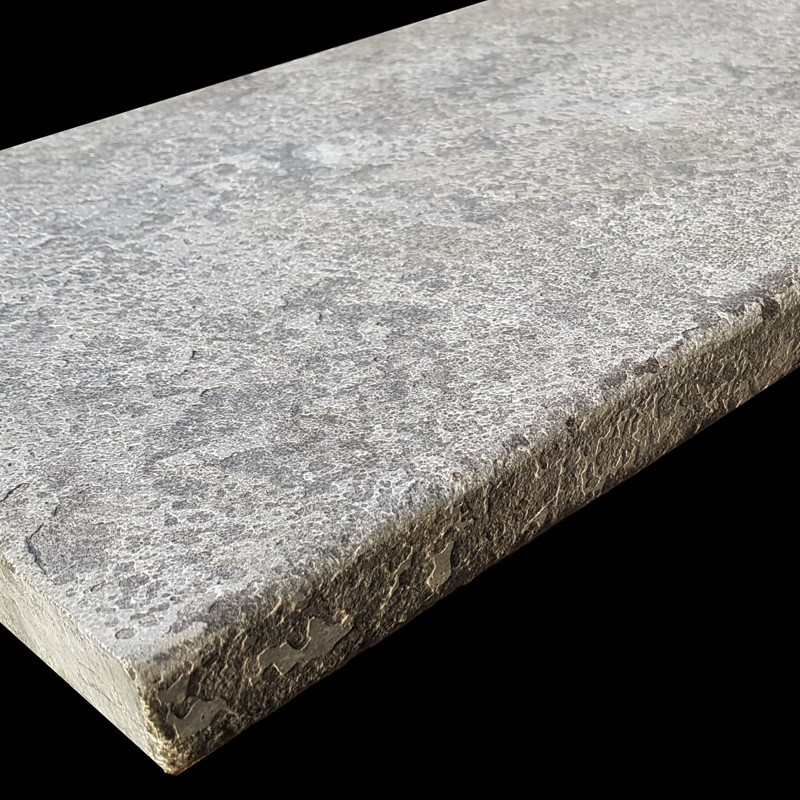 Atlantic Grigio Antique Pencil Edge Step Tread Limestone