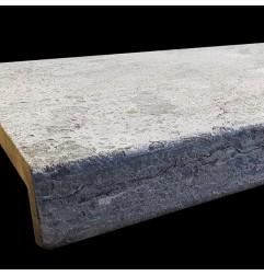Atlantic Grigio Antique Rebated Pencil Edge Step Tread Limestone
