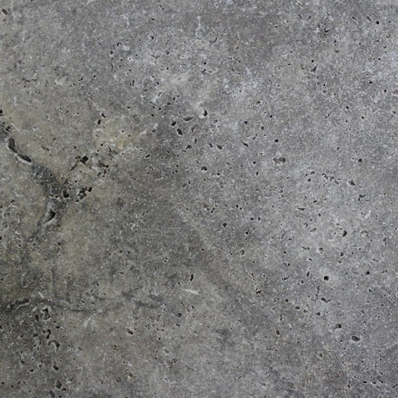 Travertine Multicolor Grey Anticato Tile - Tumbled