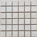 Diamond White Flamed Straight Cut Edge Straight Pattern Cobblestone Granite