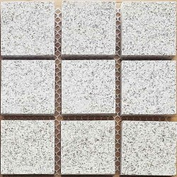 Diamond White Flamed Straight Cut Edge Straight Pattern Cobblestone Granite