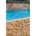 Travertine Timber Brown Tile - Vein Cut - Unfilled & Honed